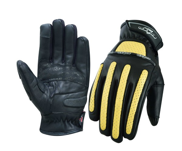 Rubber padded Genuine Leather Motorbike Gloves for Safe ride