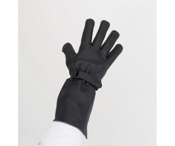 Naked Cowhide Long Summer Gaunlet Glove w/ Velcro Strap & Lining